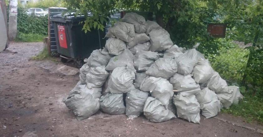 Сто кубометров мусора «подкинули» к контейнерам