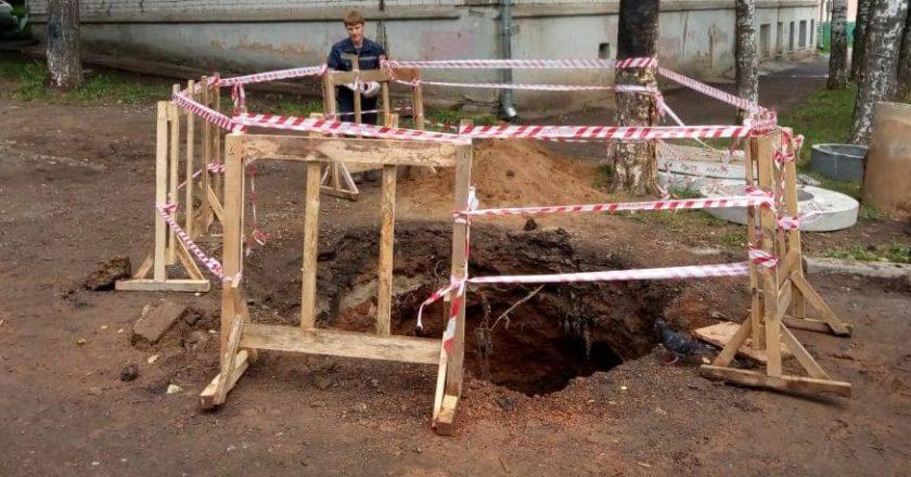 В Кирове мужчина провалился в 4-метровую яму на месте раскопок