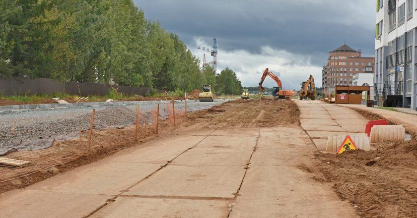 Новые дороги Кирова будут снабжены ливнёвкой