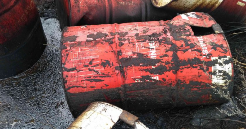 Полиция ищет виновника свалки нефтепродуктов в Кирово-Чепецком районе