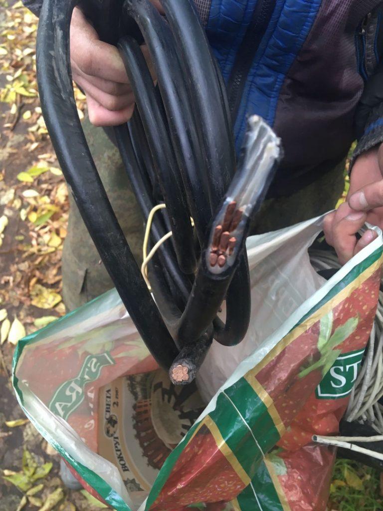 кража кабеля задержаны росгвардией