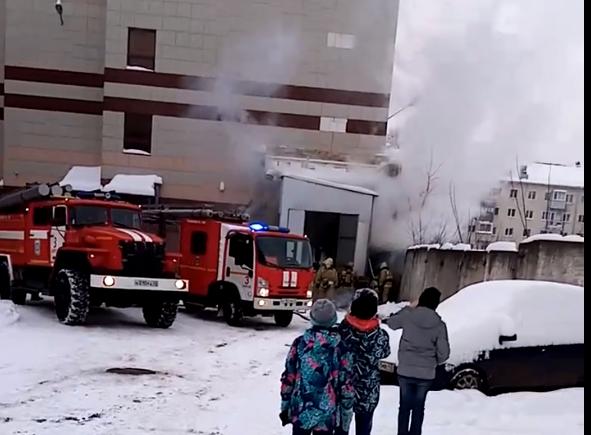 В Кирове горит тц у автовокзала