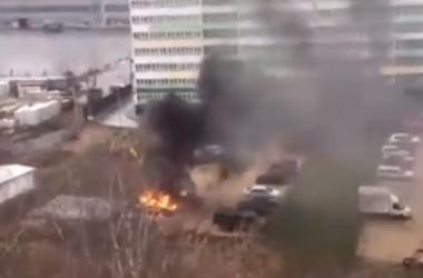 В Кирове на парковке сгорела машина