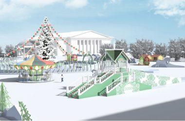 Лёд для украшения Театральной площади везут из Тюмени