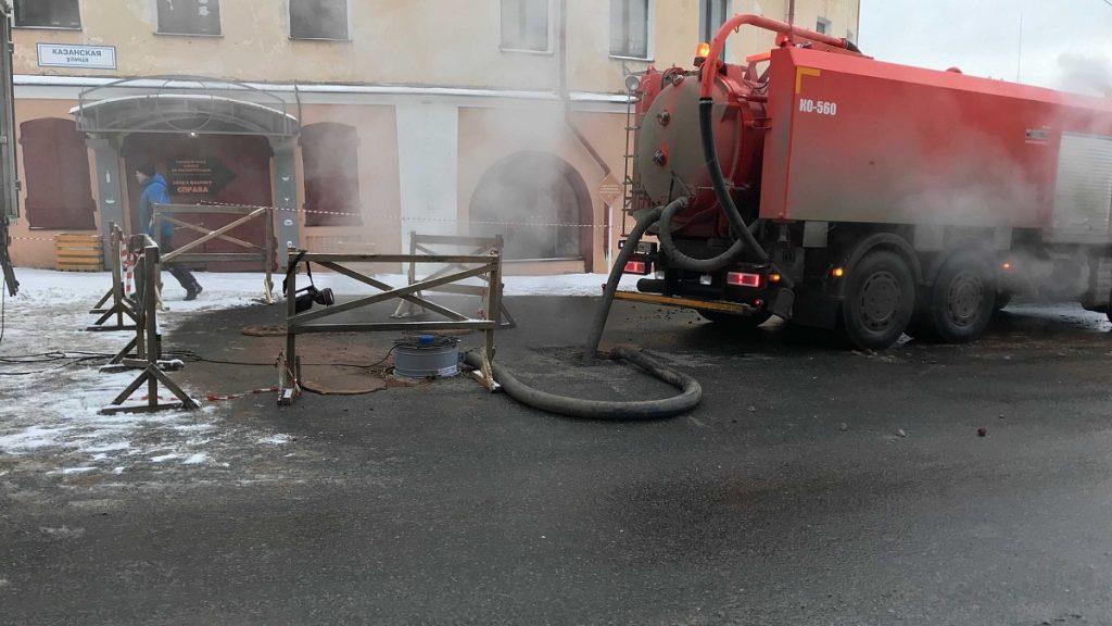 В зоне дефекта на теплосети отопление подано во все жилые дома