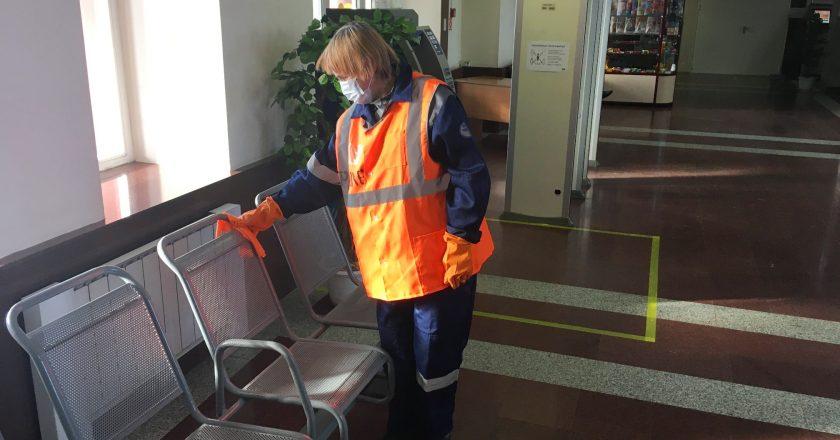 Вокзал в Кирове дезинфицируют каждые три часа