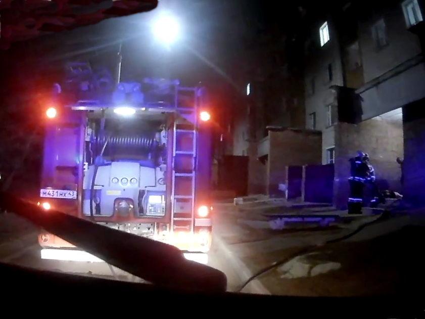 В Кировво-чепецке кировской обалсти произошёл пожар