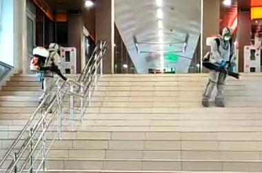 вокзал в Кирове продезинфицировали