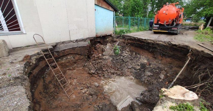 В Кирове рухнула стена здания из-за раскопок