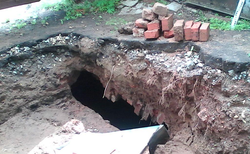 В Кирове на улице Казанской нашли подземные ходы