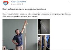 Кировчанин обнаружил на улице шкуру двухметровой змеи