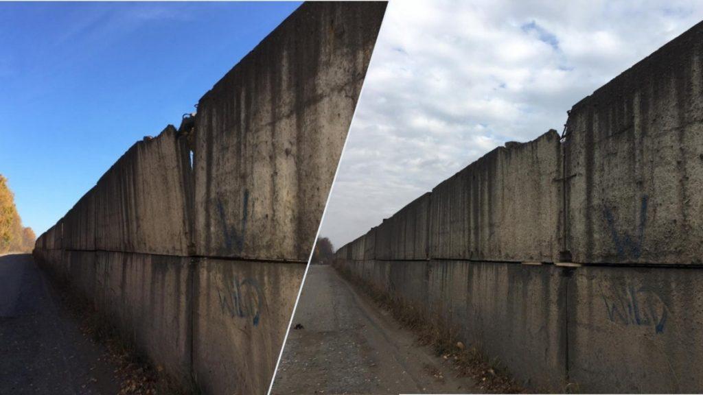 В Лянгасово отремонтировали опасный бетонный забор