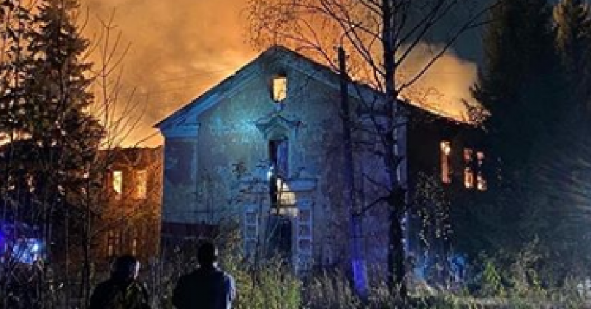 В Кирове снова горело заброшенное здание КВАТУ