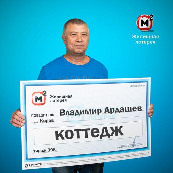 В Кирове мужчина выиграл в лотерею коттедж