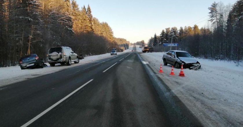 В Кировской области в ДТп пострадали пять человек