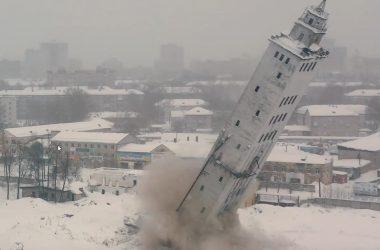 В Кирове взорвали башню мелькомбината