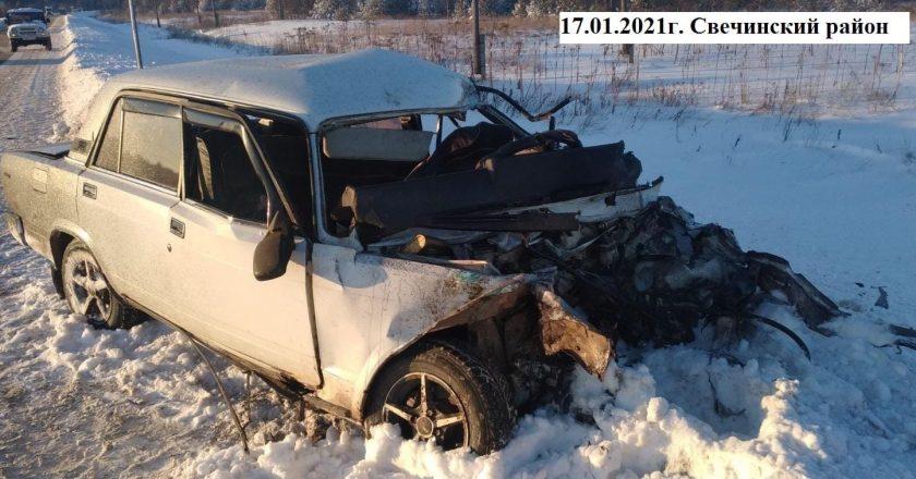 на территории Кировской области произошло 21 ДТП, в которых 2 человека погибли и 26 получили травмы.