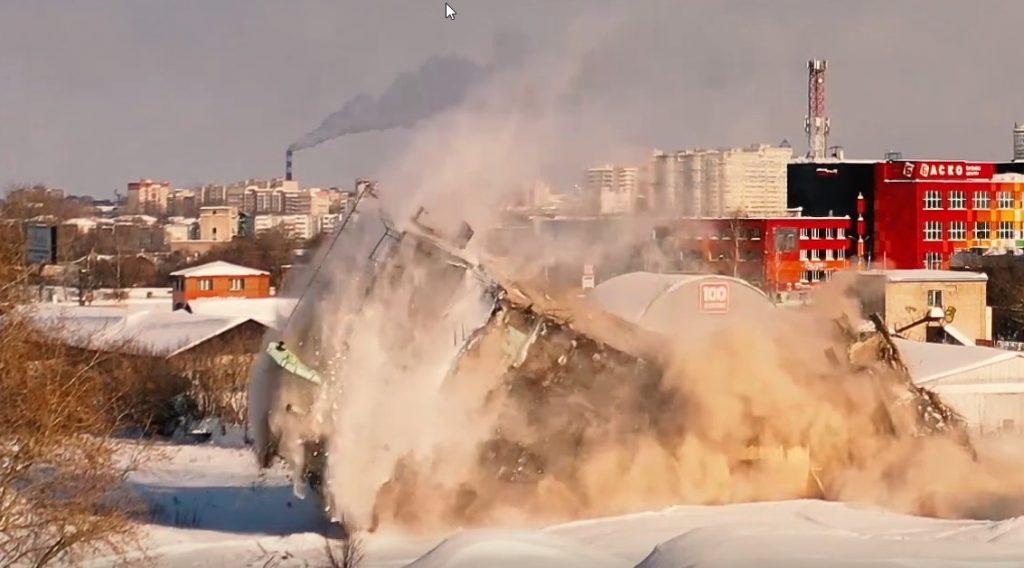 В Кирове снесли последний цех мелькомбината